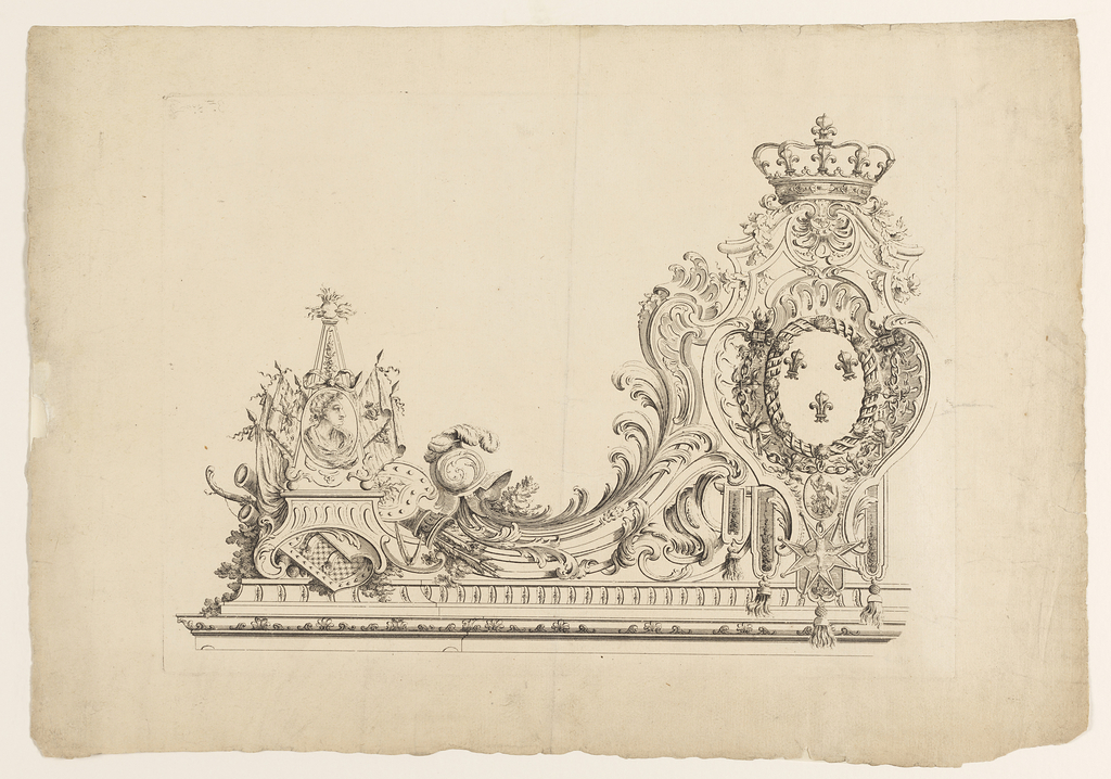 "Print, Grille, probably from the series ""Héré Plans et Elevations de la Place Royale De Nancy... 1753 A Paris Chéz J.C. François"