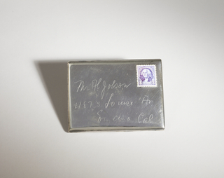 Cigarette Case in the shape of a letter addressed to Al Jolson.