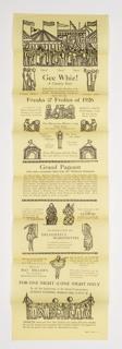 Print, New York County Fair, Freaks & Frolics of 1926