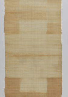 Closely-woven cream pineapple fiber with fine horizontal stripes of white cotton.