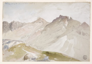 Drawing, The Upper End of Little Cottonwood Canyon, Wasatch Range, near Ogden, Utah