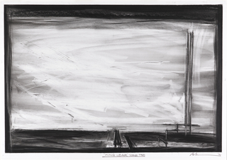 Drawing, Stage Design: Scene II, Chair and Bed, for King Lear