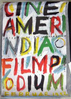 Poster, Cine Amerindia, Filmpodium February 1992