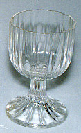 Cordial glass; Ribbed surface