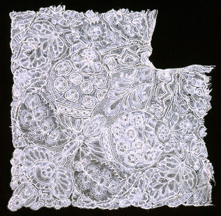 Fragment of Brussels-style lace.