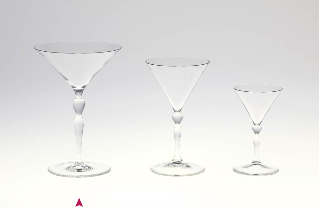 """Thinnest mouth-blown crystal (""""Muslin glass"""") champagne cup."""