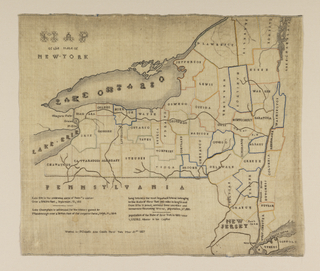 Embroidered Map, Map of the State of New York