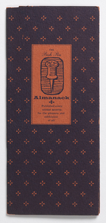 Booklet, The Push Pin Almanack, April Fool's Issue, March-April 1955, No. 15