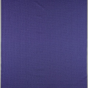Length of non-woven fabric in brilliant metallic blue with a grid of irregular embossed dots.