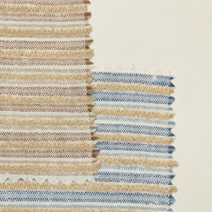 Sample book of swatches of fabrics woven with chenille yarns.