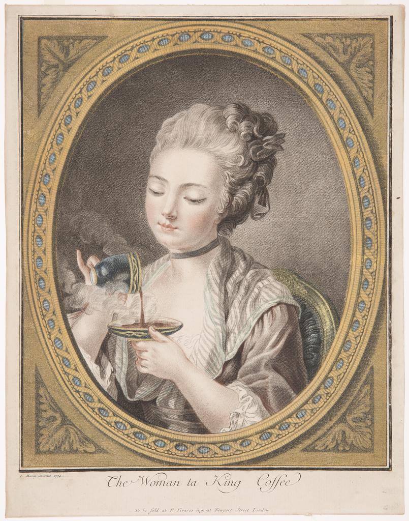 Print, The Woman Taking Coffee
