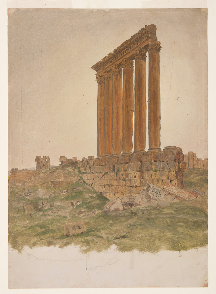 Drawing, Ruins of the Temple of Zeus, Baalbek