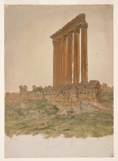 Drawing, Ruins of the Temple of Zeus, Baalbek, May 1868