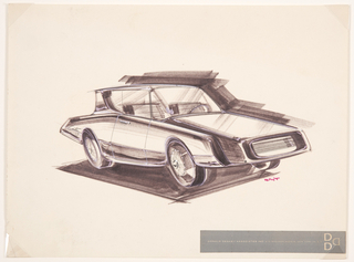 Drawing, Design for a Compact Car
