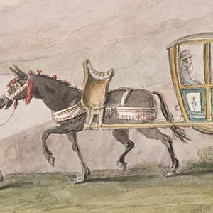 Drawing, Journey by Sedan Chair