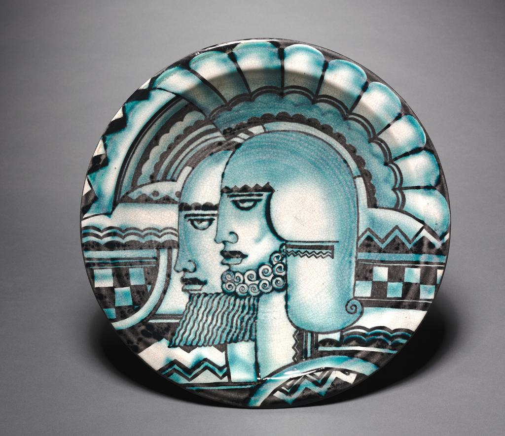 Warrior Heads Plaque, Plaque No. 5, 1932