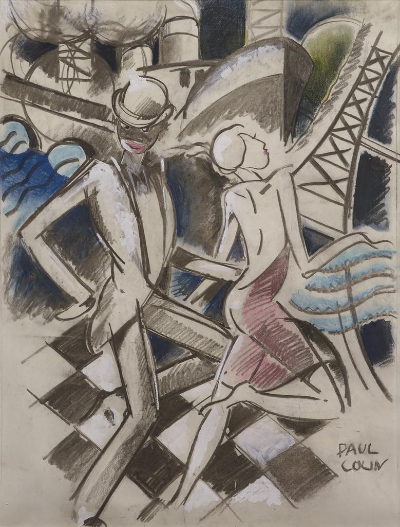 Drawing, Jazz Dancers, ca. 1928