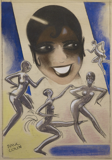 Drawing, Josephine Baker / Columbia, 1930