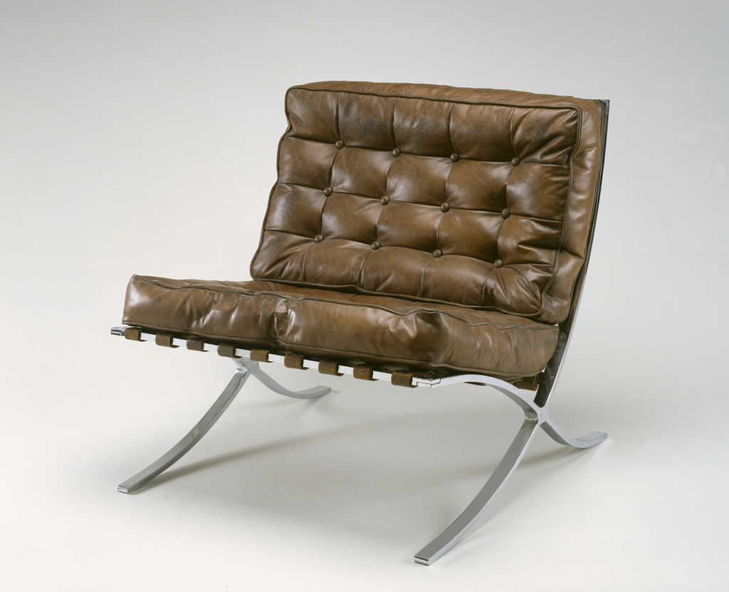 Chair, Barcelona (Model MR 90) Chair, Designed 1929, manufactured 1930