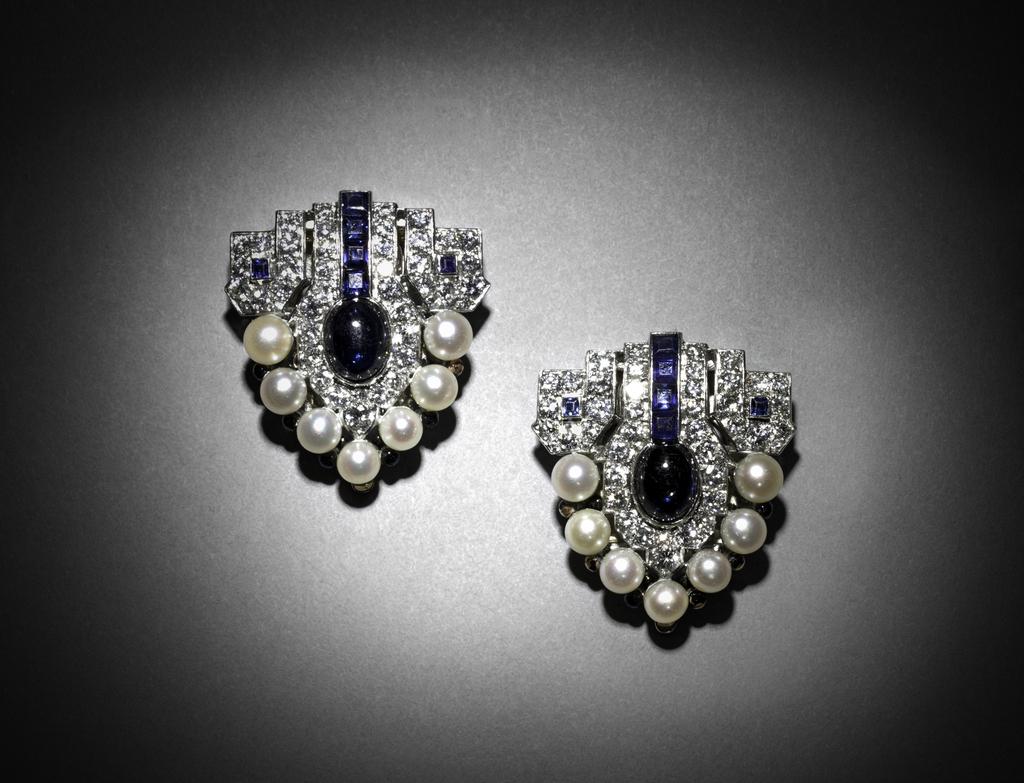 Pair Of Dress Clips/Brooch, 1920s