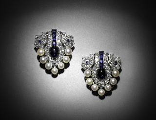 Pair Of Dress Clips/Brooch, 1920s