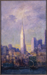 Painting, View of the Chrysler Building, 1933