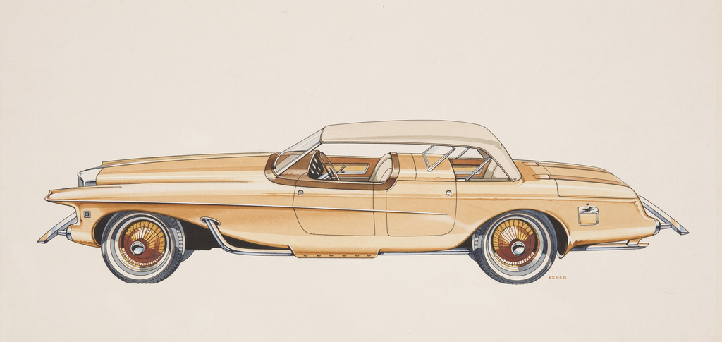 Drawing, Duesenberg Concept, 1963 | Objects | Collection of Cooper ...