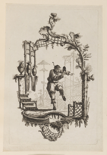 Print, Figure with Mask, 1728-1808