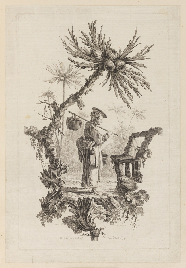 Print, Figure With Basket Under Bough