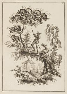 """Print, Plate 10, from """"Suite de Douze Pêcheurs et Chasseurs"""""""