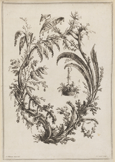 Print, Trees With Basket and Parasol, 1728-1808