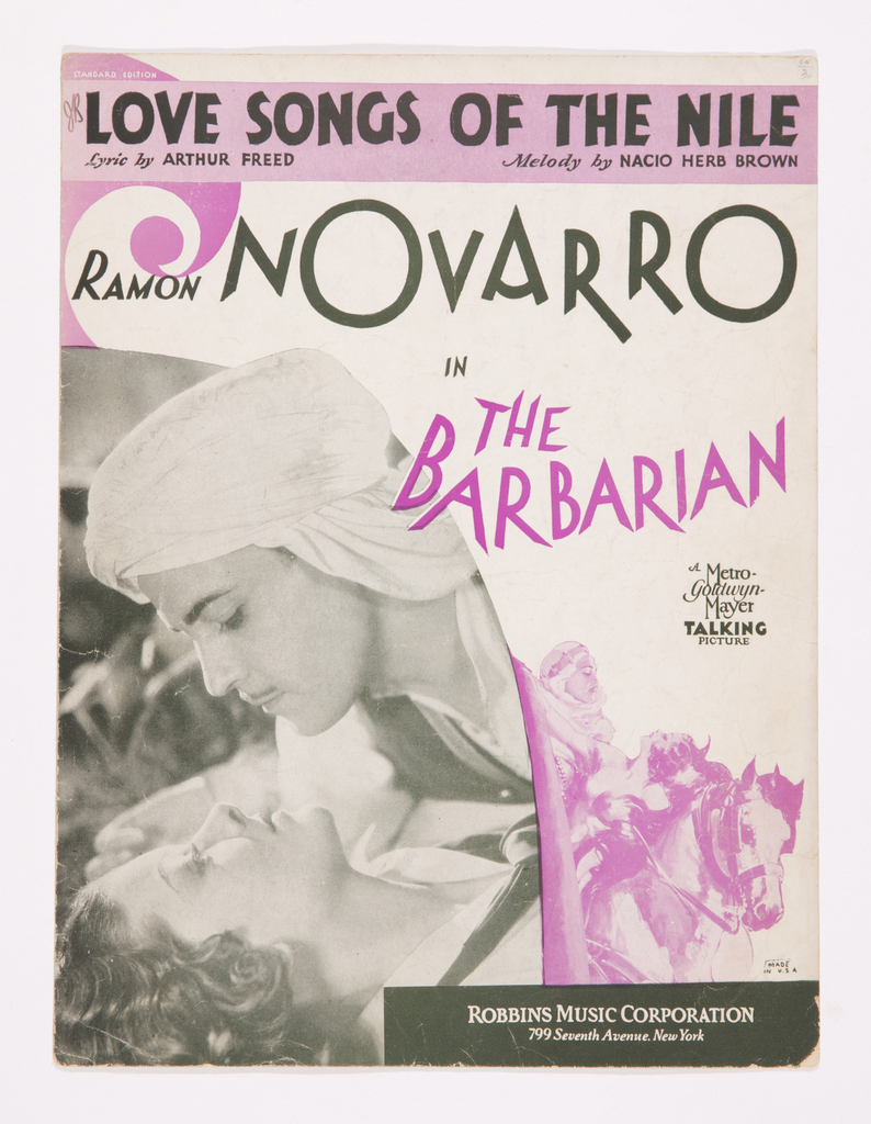 Sheet Music, Love Songs of the Nile, ca. 1933