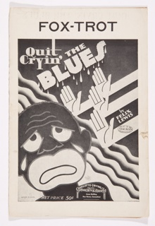 Sheet Music, Quit Cryin' the Blues: Fox-Trot
