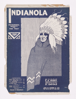 Sheet Music, Indianola, ca. 1918