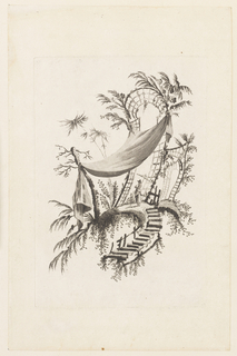 """Print, Figure Under Tent, from """"Recueil des Tentes Chinoises"""", 1728-1808"""