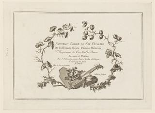 """Print, Title Page, from """"Nouveau Cahier de Six Feuilles De Différents Sujets Chinois Historiés"""", 1773"""