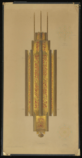 Drawing, Design for Chandelier in the Lobby of the Barclay-Vesey  (New York Telephone, Verizon) Building, New York, NY, 1927