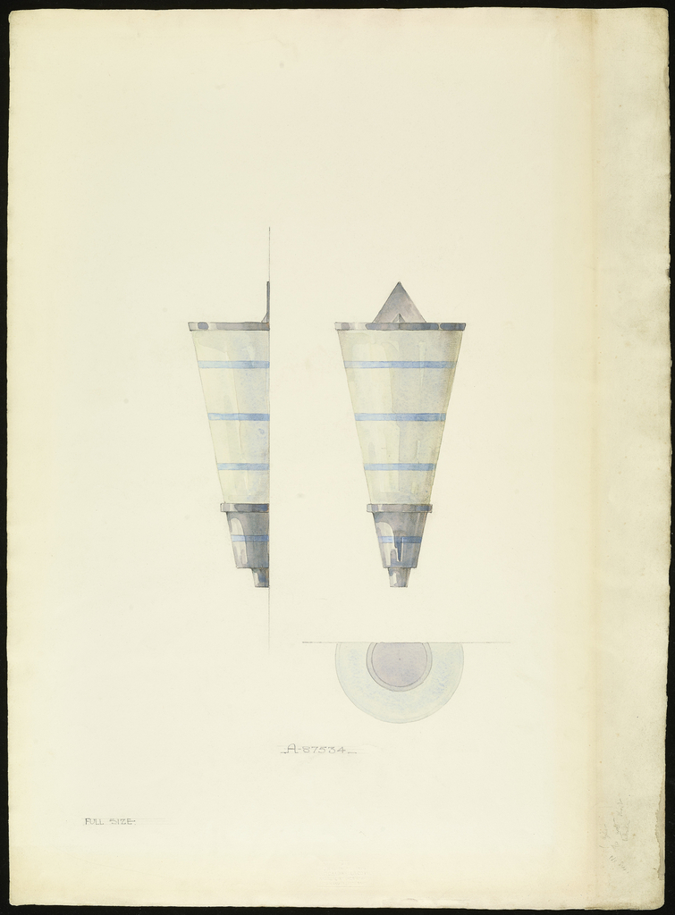 Drawing, Design for Brackets or Sconces for L. Baldridge Yacht, 1931