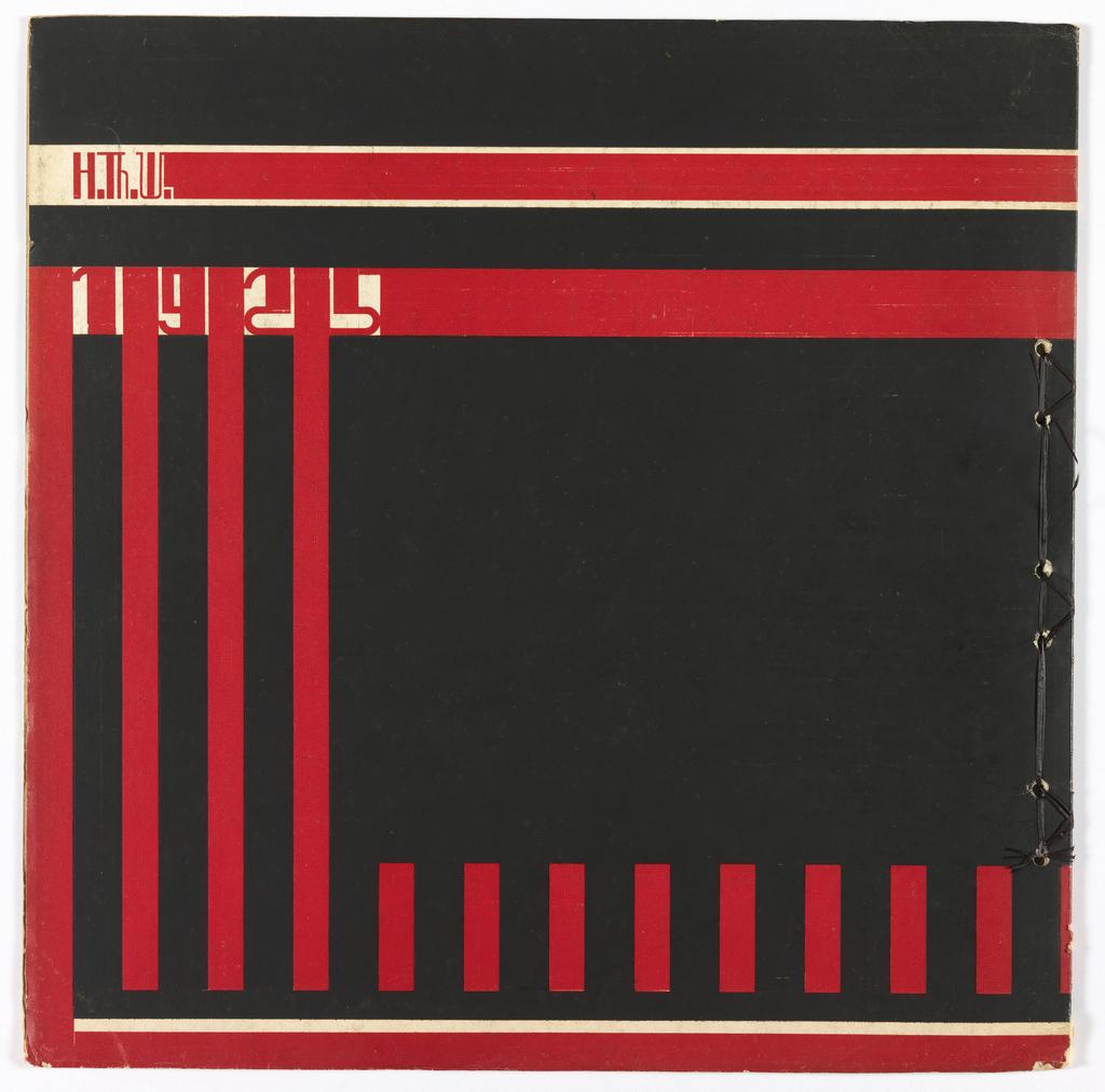 "Magazine, Cover, Wendigen, ""Frank Lloyd Wright, Aflevering IV,"" series 7, 1926"