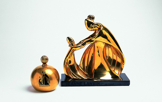 Perfume Flacon And Sculpture Of Lanvin Logo For Bal Masque Perfume, L'Ame Perdue (Lost Soul)