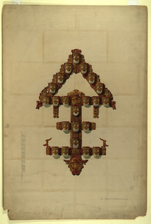 Drawing, Design for a bracket or sconce lighting fixture for the Fisher (Mayan) Theater, Fisher Building, Detroit, Michigan