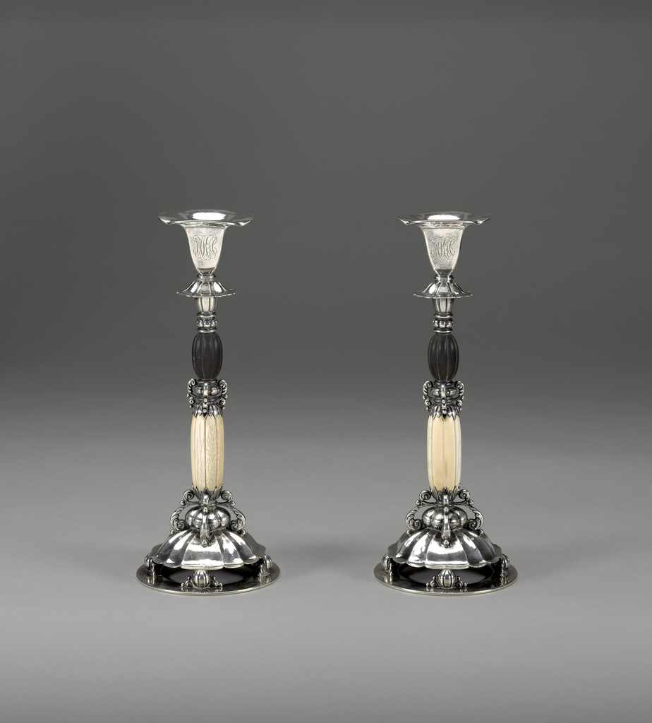 Pair Of Candlesticks From A Console Set