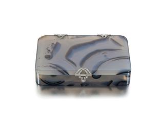 Cigarette Or Card Box, Striped Agate