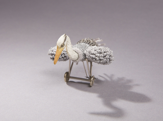 Grey Heron Airplane Ring Object With Ring