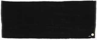 "Length of solid black cut ""transparent"" velvet."