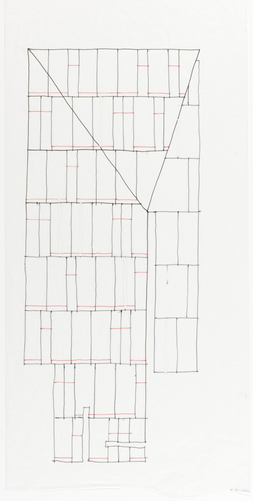 Study for facade of building.