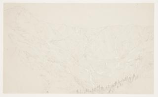 Drawing, View toward the Great Basin, Mount Katahdin, September 1877