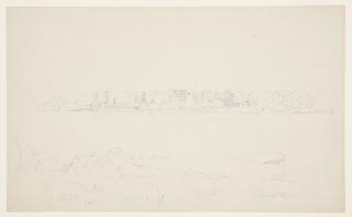 Drawing, Shore of a Lake near Mt. Katahdin, September 1877