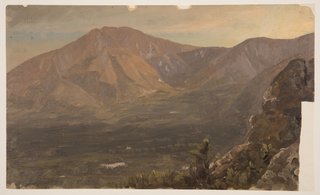 View of Katahdin, the Basin and and partial view of Turner at right