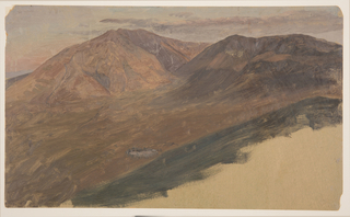 Drawing, Mt. Katahdin and Turner from a distance, 1860–78